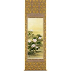 掛け軸 「聖蓮華」佐々木涼風作 仏事用の掛軸|e-kakejiku