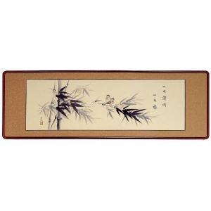 欄間額「竹に雀」菅谷芳泉作 (欄間額・書・花鳥・山水)|e-kakejiku