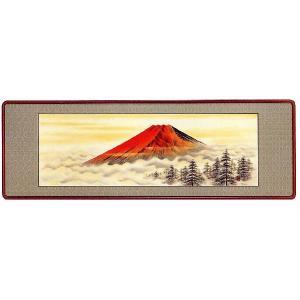 欄間額「赤富士」今枝青陽作 (欄間額・書・花鳥・山水)|e-kakejiku