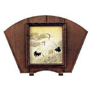 硯屏(扇面・杉 )|e-kakejiku