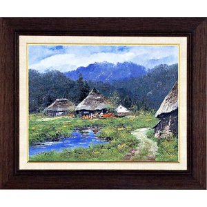 絵画 F6号「蔵のある風景」駒井敬三郎 作(油絵) e-kakejiku
