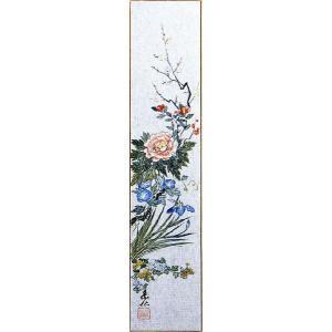 短冊「四季草花」福田素仙画伯 (季節や月ごとに楽しめる短冊)|e-kakejiku