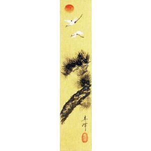 短冊「老松飛鶴」小栗春峰画伯 (季節や月ごとに楽しめる短冊)|e-kakejiku