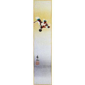 短冊「迎春」飯島香仙画伯 (季節や月ごとに楽しめる短冊)|e-kakejiku