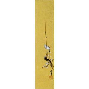 短冊「梅に雀」下條春草画伯 (季節や月ごとに楽しめる短冊)|e-kakejiku
