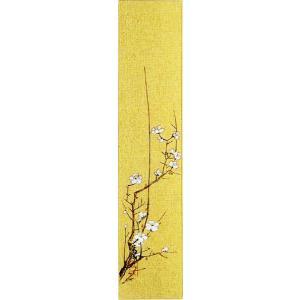 短冊「白梅」林萬城画伯 (季節や月ごとに楽しめる短冊)|e-kakejiku