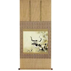 掛け軸 「玄猿」橋本関雪(掛軸)絵画/保証/送料無料|e-kakejiku