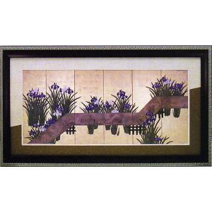 絵画 「アイリスバイブランク ブリッジ」スズキ キイチ 和風フレーム|e-kakejiku