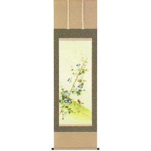 掛け軸 「朝顔」 松田香邦作 夏の掛軸|e-kakejiku
