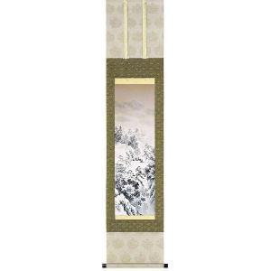 掛け軸 「水墨山水」徳村遊石作(小さいお床の間・掛軸)|e-kakejiku