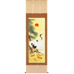 掛け軸 松竹梅鶴亀 真野香生作 お祝いの掛軸 (モダン インテリア 掛軸)|e-kakejiku