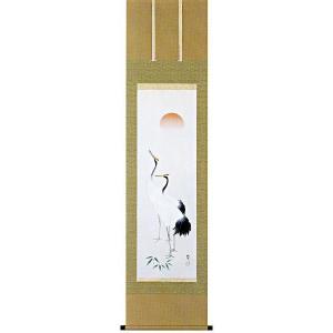 掛け軸 双鶴 佐藤純吉作 (お正月・結納・お祝い用の掛軸)|e-kakejiku