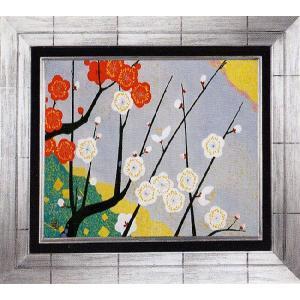 日本画 「梅」植田環(直筆・日本画)F4号|e-kakejiku