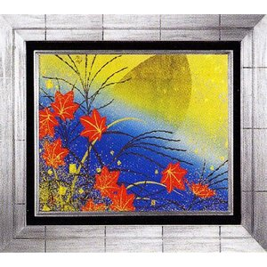 日本画 「月に秋草図・優」植田環(直筆・日本画)F4号|e-kakejiku