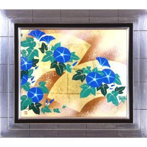 日本画 「夏風・朝顔」植田環(直筆・日本画)F8号|e-kakejiku