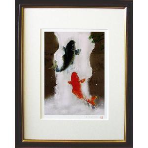 絵画 「鯉の滝のぼり」 吉岡浩太郎 (鯉の絵)|e-kakejiku