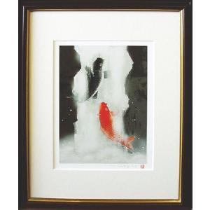 絵画 「鯉の滝のぼり」 吉岡 浩太郎作 (鯉の絵)|e-kakejiku