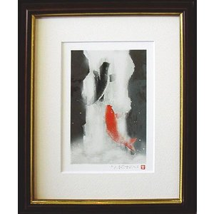 絵画 鯉の滝のぼり 吉岡浩太郎作 鯉の絵|e-kakejiku