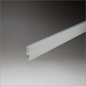 アルミハカマ 3mm〜4mmガラス用 25mmHx3640mm アルマイトシルバー 【※サービスカット対応商品です】|e-kanamono