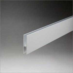 アルミハカマ 5mm〜6mmガラス用 40mmHx3640mm アルマイトシルバー 【※サービスカット対応商品です】|e-kanamono