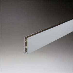 アルミクロームハカマ 5mmガラス用 34mmHx1850mm クロームメッキ|e-kanamono