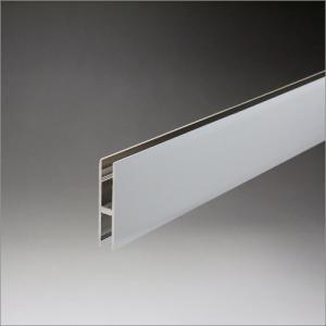 アルミクロームハカマ 5mmガラス用 40mmHx1850mm クロームメッキ|e-kanamono