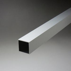 アルミ角パイプ 1.0x25x25x4000mm アルマイトシルバー 【※サービスカット対応商品です】|e-kanamono