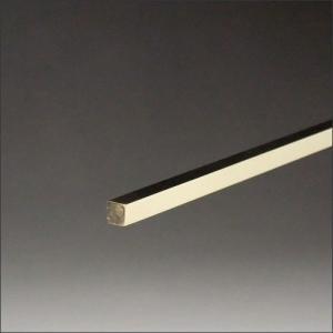真鍮角棒 6x6x3640mm 磨き|e-kanamono