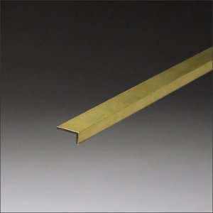 真鍮不等辺アングル 1.2x6x9.5x3000mm 生地(表面処理なし)|e-kanamono