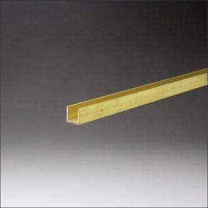 真鍮チャンネル 1.2x9.9x10x3000mm 生地(表面処理なし)|e-kanamono
