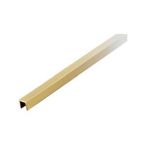 ガラススクリーンポール Pタイプ用 上レール 1200mm ゴールド|e-kanamono