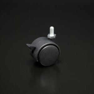 双輪キャスター(軽荷重用) M8ボルトタイプ ストップ付 40mm|e-kanamono