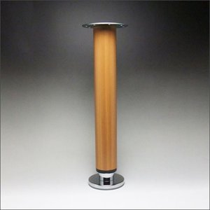 テーブル脚 昇降式ポール脚 DSS-500B 高さ調整幅 430〜630mm(4cm間隔x5段階昇降) 木目塗装|e-kanamono