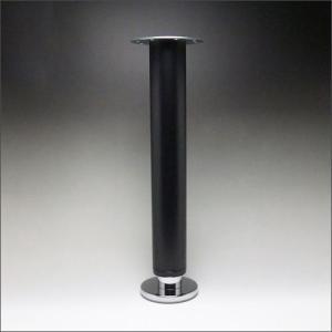 テーブル脚 昇降式ポール脚 DSS-600A 高さ調整幅 630〜730mm(2cm間隔x5段階昇降) 黒塗装|e-kanamono