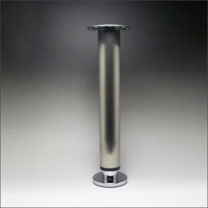 テーブル脚 昇降式ポール脚 DSS-600A 高さ調整幅 630〜730mm(2cm間隔x5段階昇降) ステンレス ヘアライン|e-kanamono