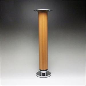 テーブル脚 昇降式ポール脚 DSS-600B 高さ調整幅 400〜500mm(2cm間隔x5段階昇降) 木目塗装|e-kanamono