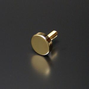 化粧ビス(真鍮製) フラットタイプ EPS-E10F-15 ゴールド|e-kanamono