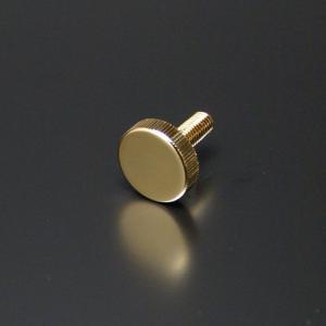 化粧ビス(真鍮製) ローレットタイプ EPS-E13R-15 ゴールド|e-kanamono
