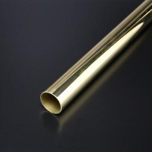真鍮丸パイプ HRP-1 19mm x 1000mm 磨き(ゴールド)|e-kanamono