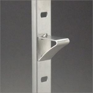 ステンレス棚柱 KTR-1S用 専用V型棚受 ヘアライン(ラバーなし)|e-kanamono