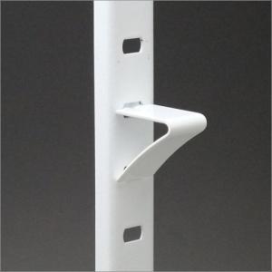 ステンレス棚柱 KTR-1S用 専用V型棚受 ホワイト塗装(ラバーなし)|e-kanamono