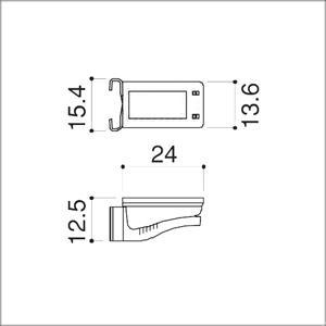 フラッシュ棚柱 KTR-4F用 専用棚受 ホワイト|e-kanamono|02