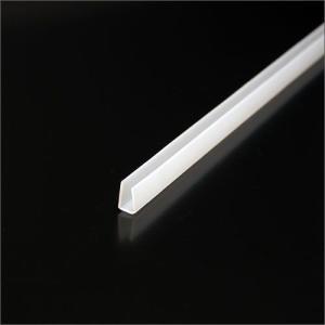 エコチャンネル ポリカーボネート製チャンネル 5mm用x2000mm 乳白色|e-kanamono