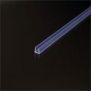 硬質ビニール製破損止(チャンネル) 3mm用x2000mm 透明|e-kanamono
