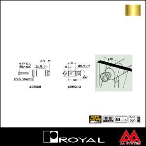 ロイヤル 40ガラスタイプ1用サイドビスセット 40BGM APゴールド|e-kanamono
