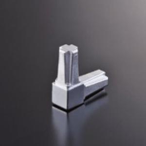 組立パイプシステム UPS-16S 16mm角パイプ用 コネクター 2P クロームメッキ|e-kanamono
