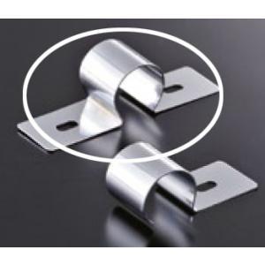 組立パイプシステム UPS-25C 25mm丸パイプ用 固定金具W クロームメッキ|e-kanamono