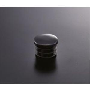 組立パイプシステム UPS-25C 25mm丸パイプ用 パイプキャップ(黒) ※1袋4個入|e-kanamono
