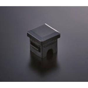 組立パイプシステム UPS-25S 25mm角パイプ用 パイプキャップ(黒) ※1袋4個入|e-kanamono