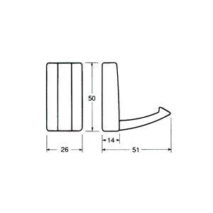 折りたたみ式壁掛けフック WPH-FH-S シルバー|e-kanamono|04
